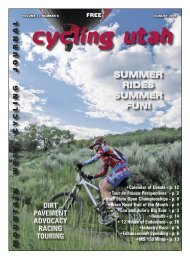 August 2005 Issue - Cycling Utah