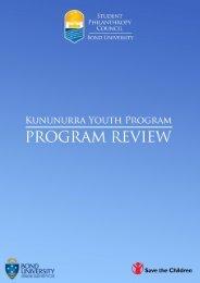 Kununurra Youth Program & Save the Children - Bond University