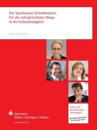 Gründerpreis 2009 der Sparkasse HRV - Sparkasse Hilden