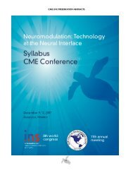 CME Presentation Abstracts - International Neuromodulation Society