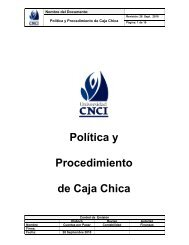 Política y Procedimiento de Caja Chica