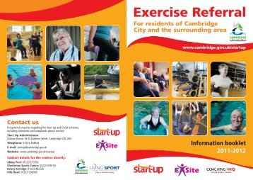 Exercise Referral - Cambridge City Council