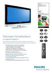 26PFL5522D/12 Philips Breitbild-Flat TV mit Digital ... - Snogard