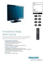 26PFL5403D/10 Philips Flat TV mit Digital Crystal Clear - Snogard