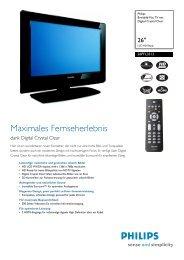 26PFL3312/10 Philips Breitbild-Flat TV mit Digital Crystal ... - Snogard