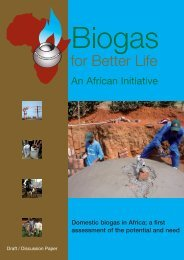Biogas for a better life - SNV Netherlands Development Organisation