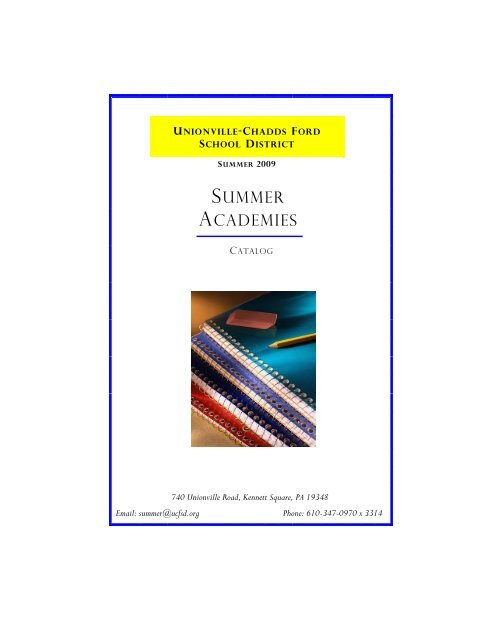 Summer Academies Catalog   Unionville Chadds Ford School District