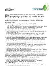 Friluftsrådet Region Syddanmark Regionsudvalget Referat af møde i ...