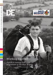 A guide to running DofE programmes in The Boys' Brigade leaflet(.pdf)