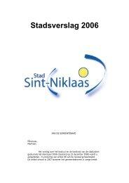 Stadsverslag 2006 - Stad Sint-Niklaas