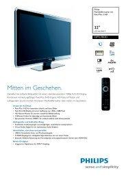 32PFL7803D/10 Philips Flachbildfernseher mit Pixel Plus ... - Snogard