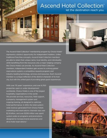 Collection Overview - Choice Hotels Franchise