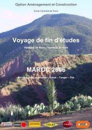 Voyage de fin d'études MAROC 2006 - Site de l'Option et du ...