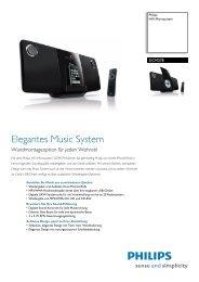 DCM278/12 Philips HiFi-Microsystem - Snogard