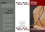Material Culture - Cordillera Studies Center