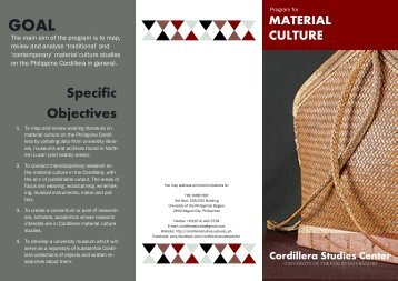 Material Culture - Cordillera Studies Center