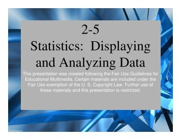 2-5 Statistics: Displaying and Analyzing Data - Mona Shores Blogs