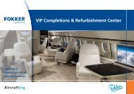 VIP Aircraft Completions and Refurbishments - Fokker Services