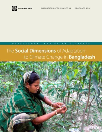 The Social Dimensions of Adaptation to Climate Change in ...