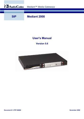 audiocodes mediant 500 configuration guide