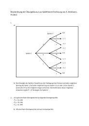 Musterlösung der Übungsklausur zur Spieltheorie-Vorlesung von A ...