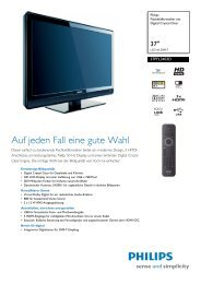 37PFL3403D/12 Philips Flachbildfernseher mit Digital ... - Snogard