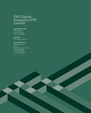 IdfC Capital (Singapore) pTE Limited