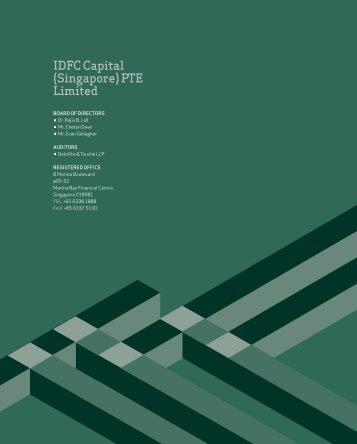 IdfC Capital (Singapore) pTE Limited