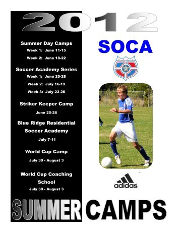 SOCA Summer Camp Brochure