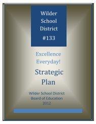 Strategic Plan - Wilder School District #133
