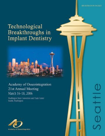 preliminary program - Academy of Osseointegration