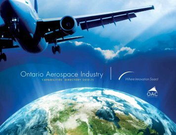 Ontario Aerospace Industry - Ontario Aerospace Council