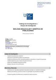 biología molecular y genética de poblaciones - Vicerreitorado de ...