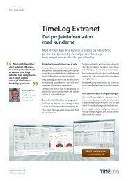 Læs mere om TimeLog Extranet Styrk workflowet i virksomheden ...