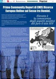 EMIS 2010. Community Report 1