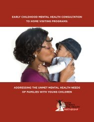 early childhood mental health consultation to home visiting ...