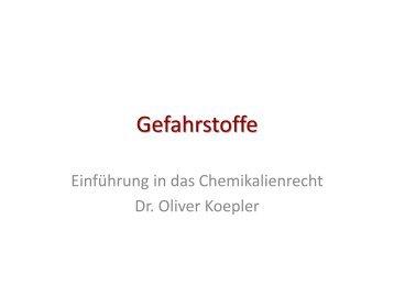 Einführung in die organische Chemie - IMST