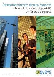 Votre solution haute disponibilité de l'énergie ... - Socomec Group