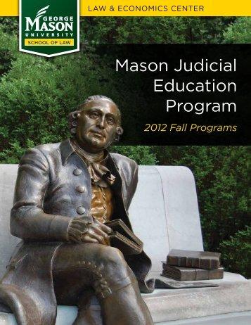 mason Judicial Education Program - Law & Economics Center