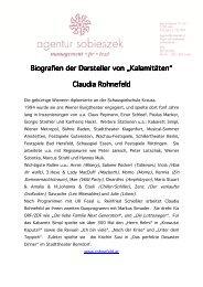 Biografien der Darsteller von Biografien der ... - by sobieszek.at