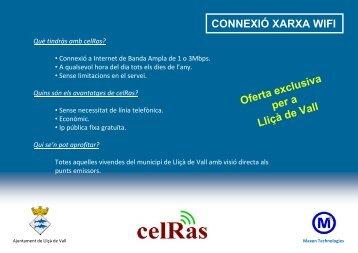 CONNEXIÓ XARXA WIFI - CelRas