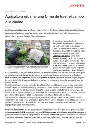 Agricultura urbana: una forma de traer el campo a la ciudad