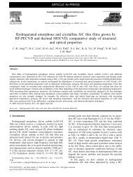 Hydrogenated amorphous and crystalline SiC thin films grown by RF ...