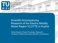 scientific accompanying research of the electric mobility model ...