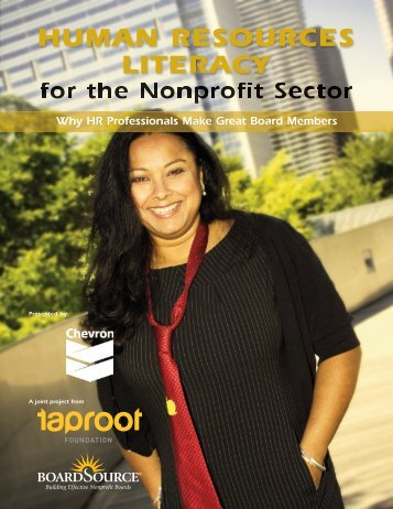 HUMAN RESOURCES LITERACY - Taproot Foundation