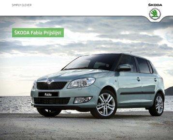 Prijslijst SKODA Fabia per 01-07-2012.pdf - Fleetwise