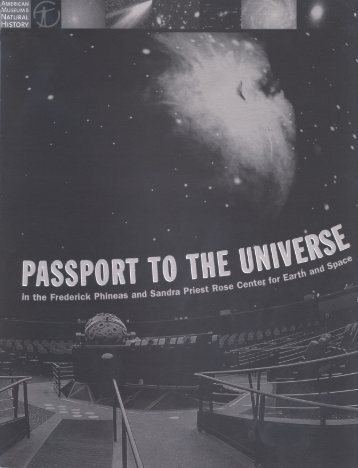 Passport to the Universe - American Museum of Natural History