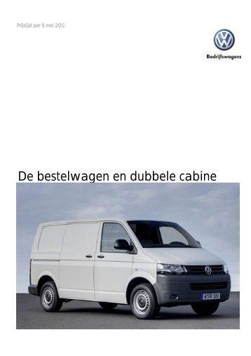 Prijslijst VW Bedrijfswagens Bestelwagen en Dubbele ... - Fleetwise