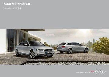 Audi A4 prijs-en productinfo per 010112.pdf - Fleetwise