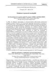 2011/2 Előadások és poszterek összefoglalói - Egészségtudomány